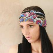 Headband, Workout headband, Sweatband, Yoga Headband, Tie up headband, Stretchy Headband, Headwrap, Dolly bow headband, Fabric headband, Bandana Exercise headband, Jersey headband, Pin up headband, Boho Headband, Hippie Headband, Elastic Headband - Funky Purple