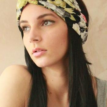 Workout headband -Turban Headband, Yoga Headband, Turban Twist, Exercise headband, Boho Headband, Hippie Headband - Flower Garden Hairband