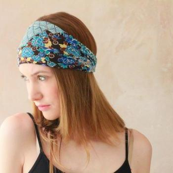 Workout headband, Fabric Headband, Exercise headband, Stretchy Headband, Sweatband, Boho Headband, Hippie Headband, Hairband