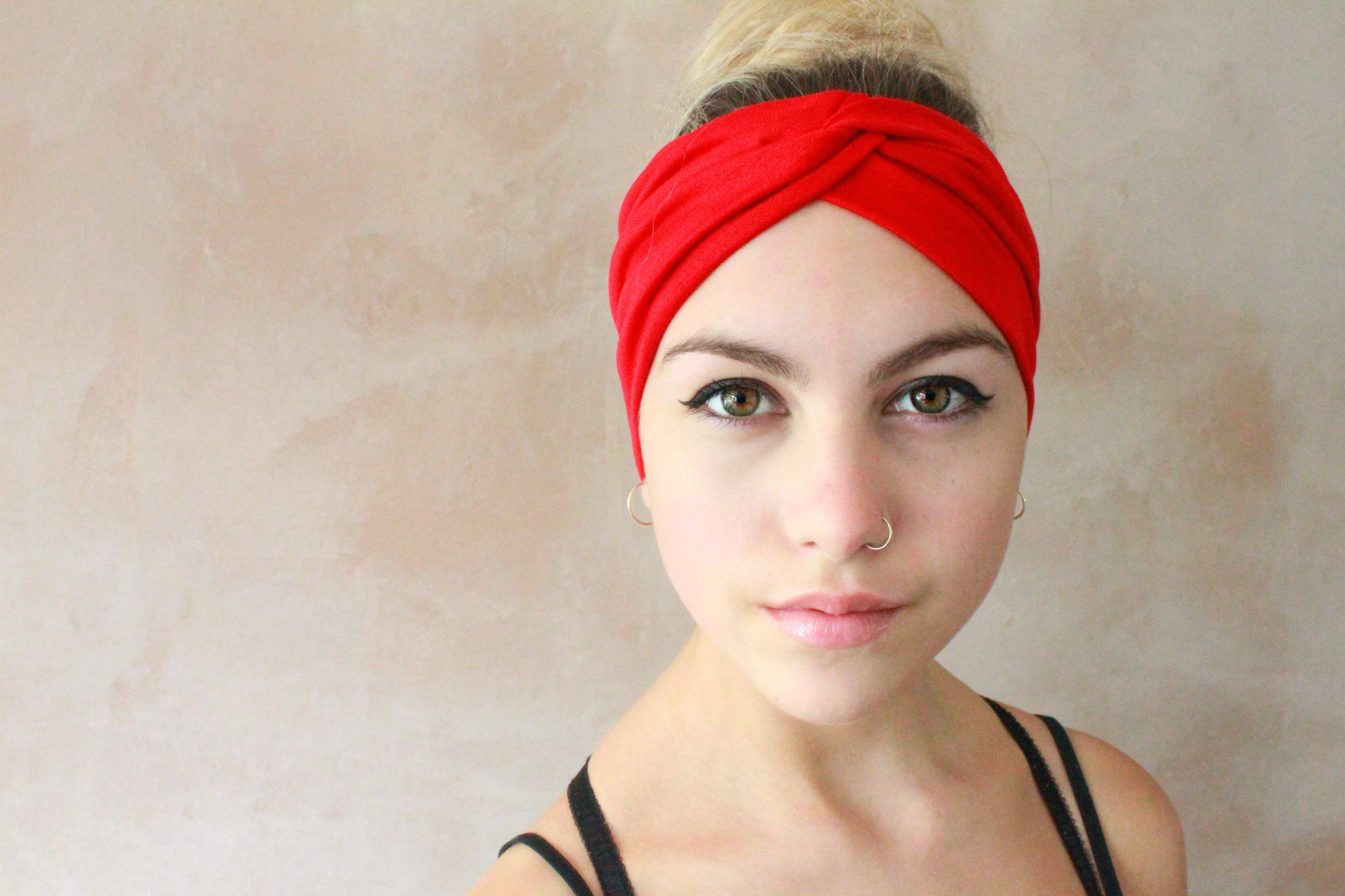 2 In 1 Red Turban Headband 176cae9149c